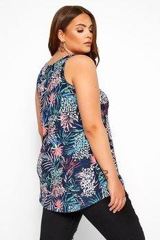 Linne med breda axelband i swingmodell, tropical