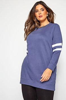 Sweatshirt med ränder, blå