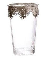 Ljushållare Marrakesh Glas Silver