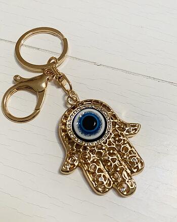 Nyckelring Fatimas hand Guld