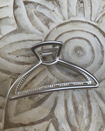 Hårklämma silver