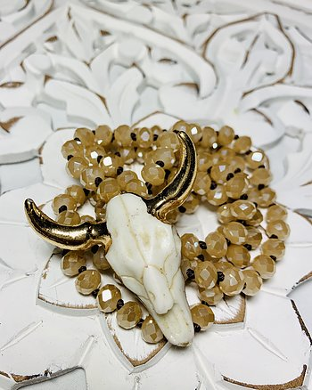 Nude Crystal Buffalo Necklace