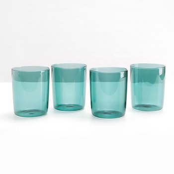 Maison Balzac Set of Four Drinking Glasses  - TEAL