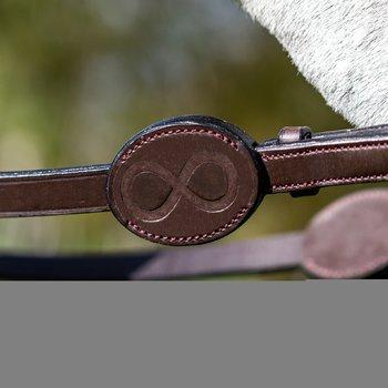 Träns med fransk nosgrimma med silverspänne från La Cense by Dyón
