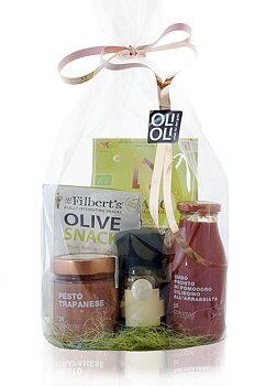 CELLOFANPAKET Ekologisk pasta, tomatsås, tomatpesto, pepparkvarn & oliver