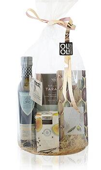 CELLOFANPAKET Olivolja, choklad med havssalt, fikonmarmelad & taralli