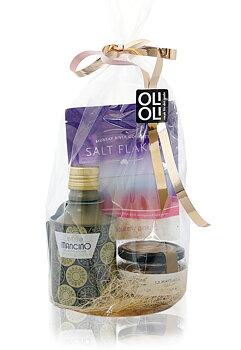 CELLOFANPAKET Olivolja, rosa gourmetsalt & grön olivpaté