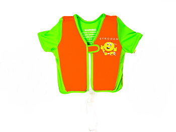 Swim Vest - Orange/Lime Smiley (2-4 years)