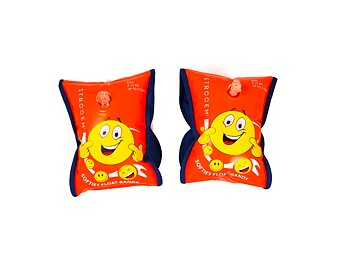 Softies Smiley's Float-bands (0-2 years) Orange-Navy