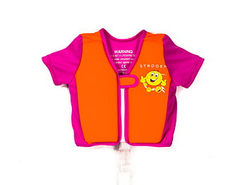 Swim Vest - Orange/Pink Smiley (2-4 years)