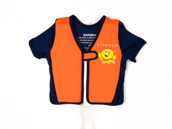 Swim Vest - Orange/Navy Smiley (4-6 years)