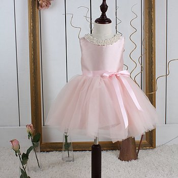 Pink princess dress in tulle Twill
