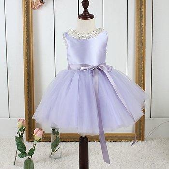 Lila prinsessklänning i tyll Twill