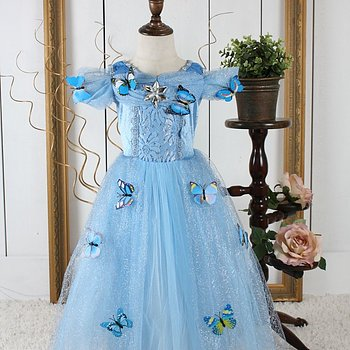Blue fairytail dress with butterflies