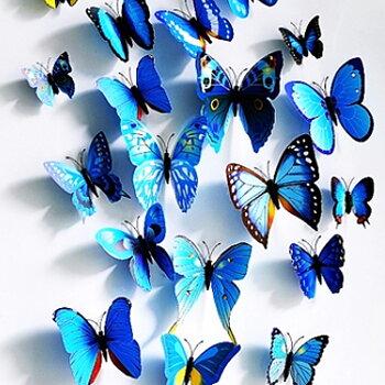 Fjärilar dekor Blå