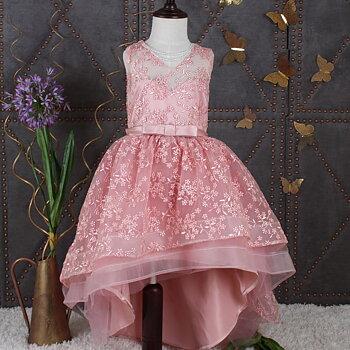 Rosa broderad klänning Highandlow