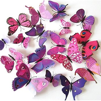 Butterflies decor Purple