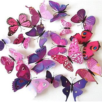 Fjärilar dekor Lila