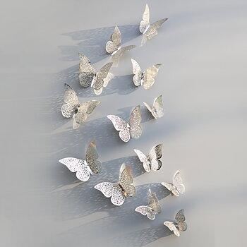 Fjärilar dekor Silver
