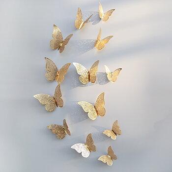 Fjärilar dekor Guld
