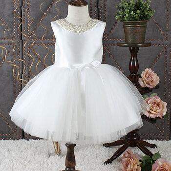 Ivory prinsessklänning i tyll Twill