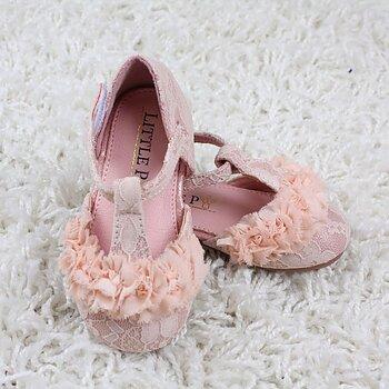 Rosa ballerina i spets och chiffong baby