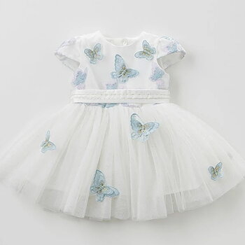 Dress with blue butterflies