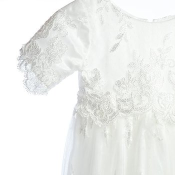 Baptism dress with flowerlace