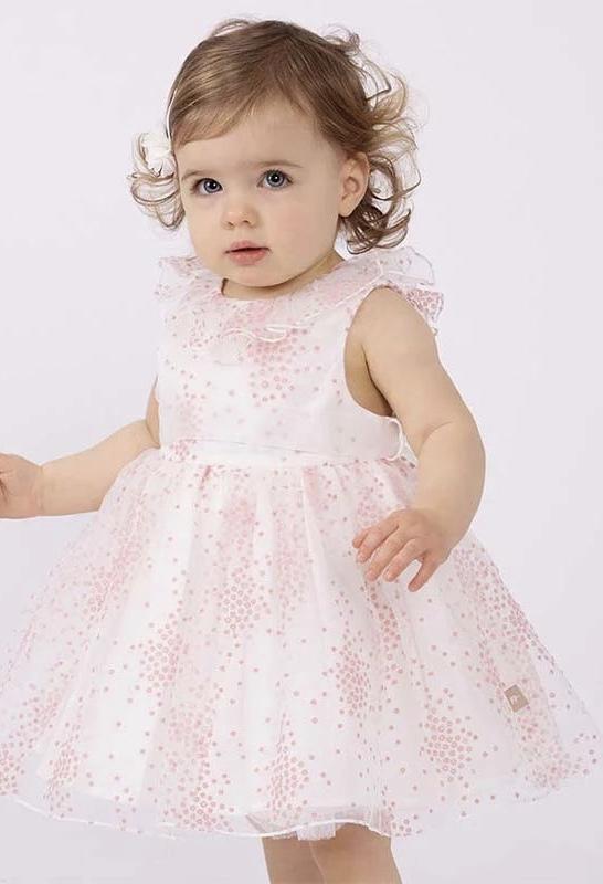 rosa klänning med små blommor