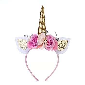 Headband Unicorn gold horn
