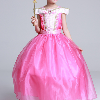 Rosa sagoklänning i organza