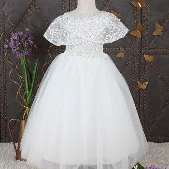 Ivory prinsessklänning i tyll med stenar