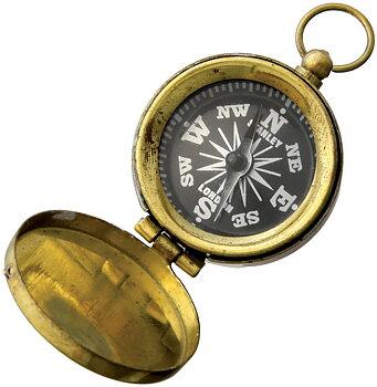 Factory X - Pocket Compass Brass - Kompass I Mässing