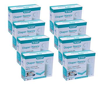 2B Baby Diaper Nanny Refill 8-P