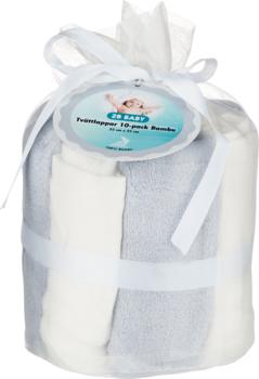 2B Baby Tvättlappar Bambu 10-pack Grå