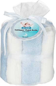 2B Baby Tvättlappar Bambu 10-pack Blå