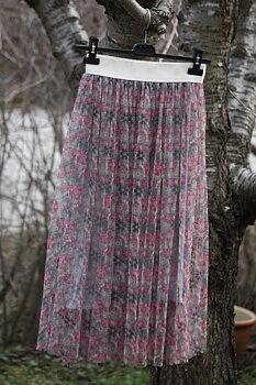Tyll kjol med blom print