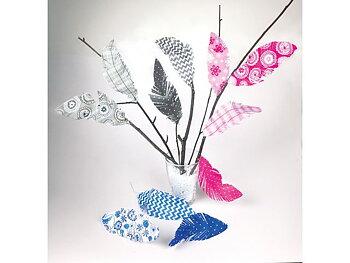 Fjädrar i papper mönster