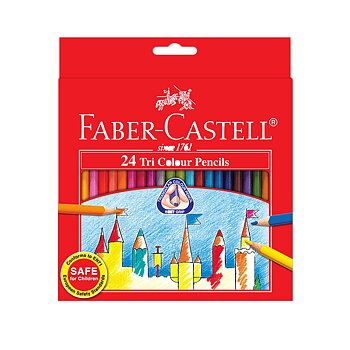 Färgpennor Faber Castell Tri Colour 24/fp