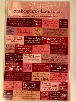 William Shakespeare : Love Quotations Magneter