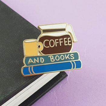 Coffee and books : Enamel Pin