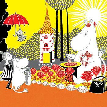 Moomin : Moominmama with berries - Kort med kuvert