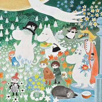 Moomin : The Balloon - Kort med kuvert