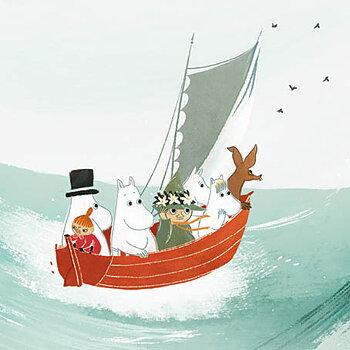 Mumin : Båten - Kort med kuvert