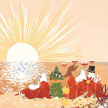 Moomin : The Beach - Kort med kuvert