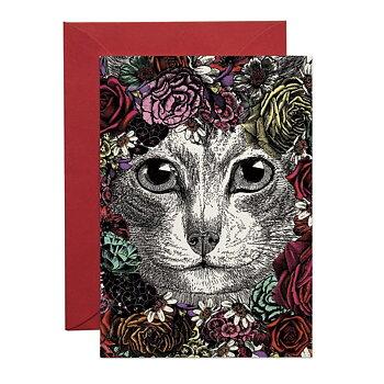 Flower Cat : Kort med kuvert