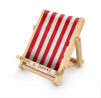 Bookchair : Deckchair röd - solstol som stöd för boken och läsplattan