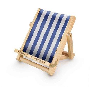 Bookchair : Deckchair blå - solstol som stöd för boken och läsplattan