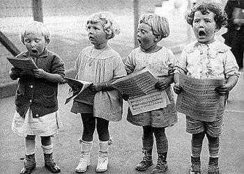 S/V : Choir Practice 1917 - Kort med kuvert