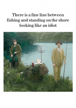 Photocaptions : Fishing - Kort med kuvert